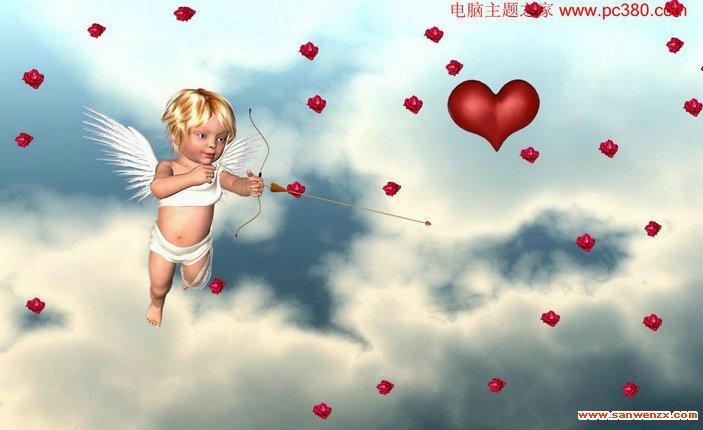 爱神丘比特屏幕保护程序高清图片